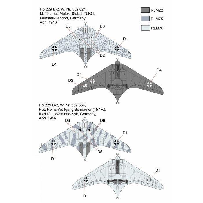 1/144『Ho-229 夜間戦闘機』プラモデル-003