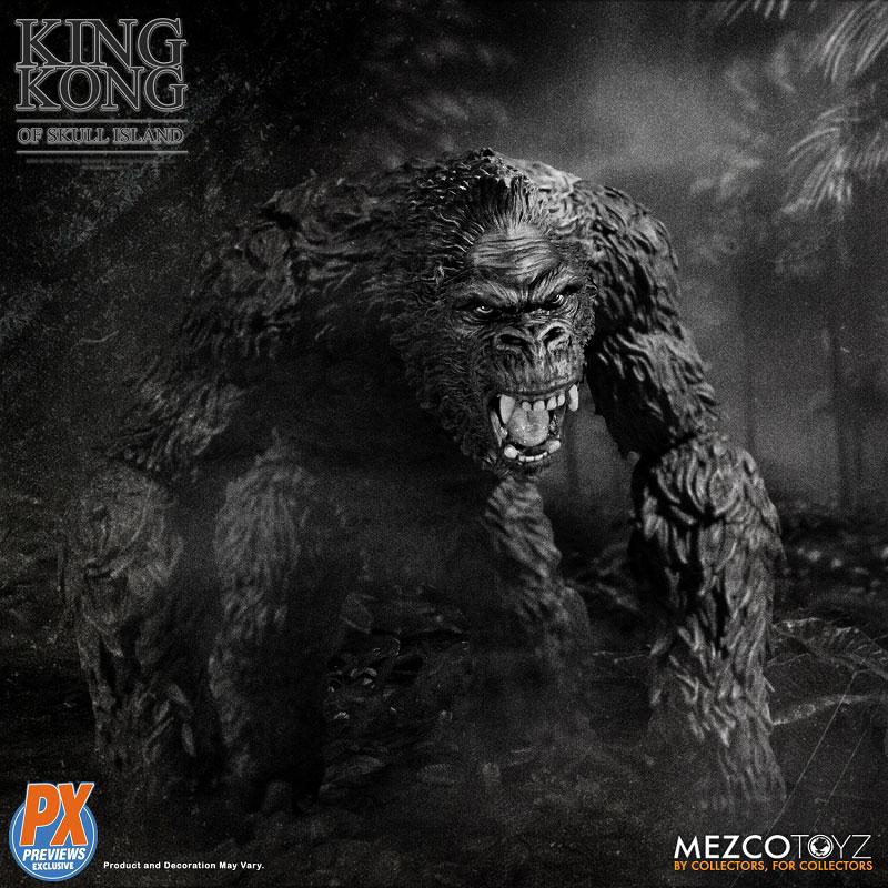 『キング・コング スカル・アイランド プレビュー限定 ブラック&ホワイト ver』7インチ アクションフィギュア-003