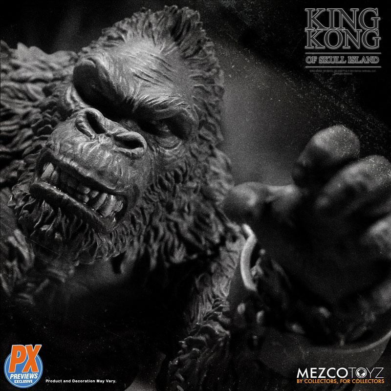 『キング・コング スカル・アイランド プレビュー限定 ブラック&ホワイト ver』7インチ アクションフィギュア-004