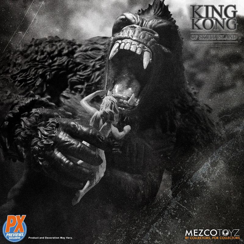 『キング・コング スカル・アイランド プレビュー限定 ブラック&ホワイト ver』7インチ アクションフィギュア-005