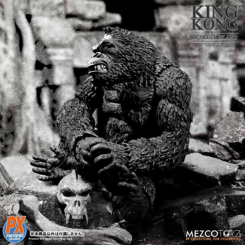 『キング・コング スカル・アイランド プレビュー限定 ブラック&ホワイト ver』7インチ アクションフィギュア-006