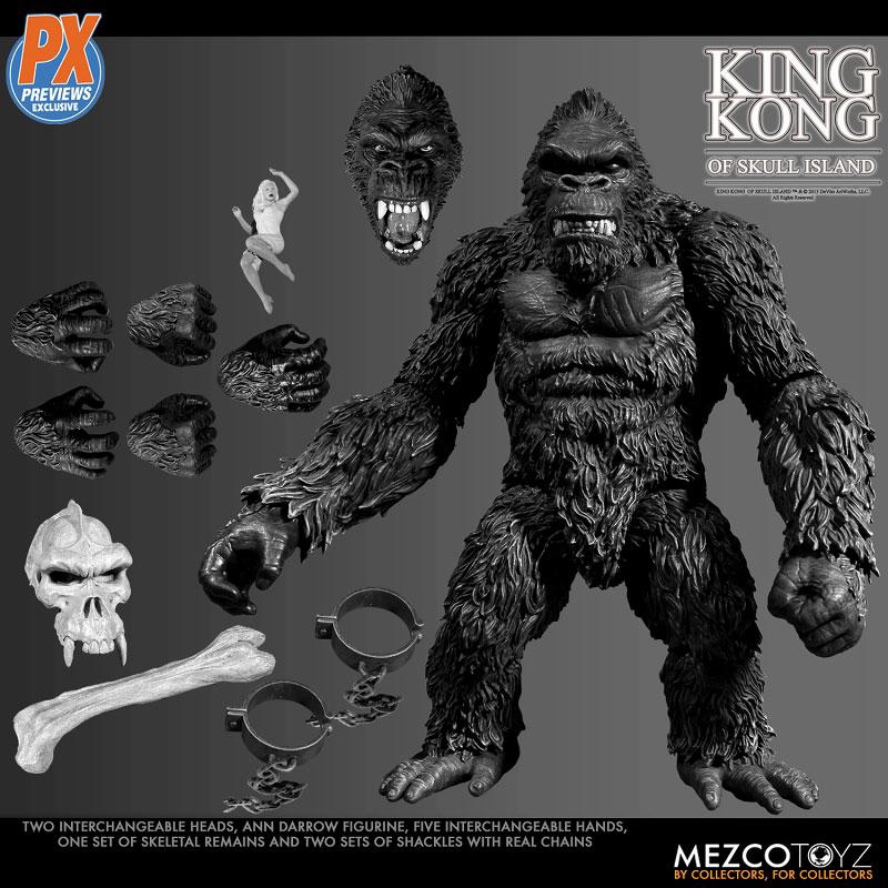 『キング・コング スカル・アイランド プレビュー限定 ブラック&ホワイト ver』7インチ アクションフィギュア-007