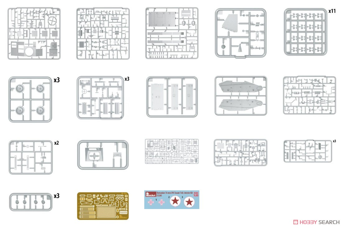 1/35『ルーマニア 76ミリ自走砲 TACAM T-60 フルインテリア』プラモデル-002