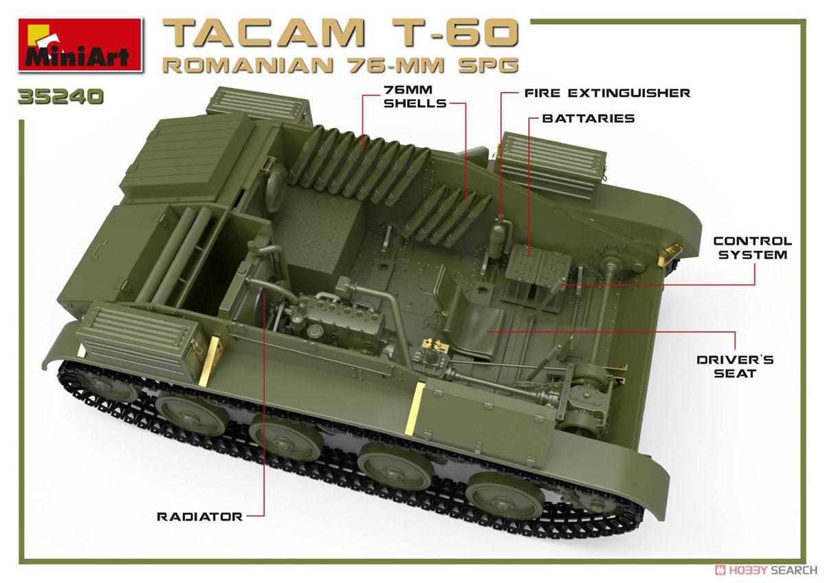 1/35『ルーマニア 76ミリ自走砲 TACAM T-60 フルインテリア』プラモデル-005