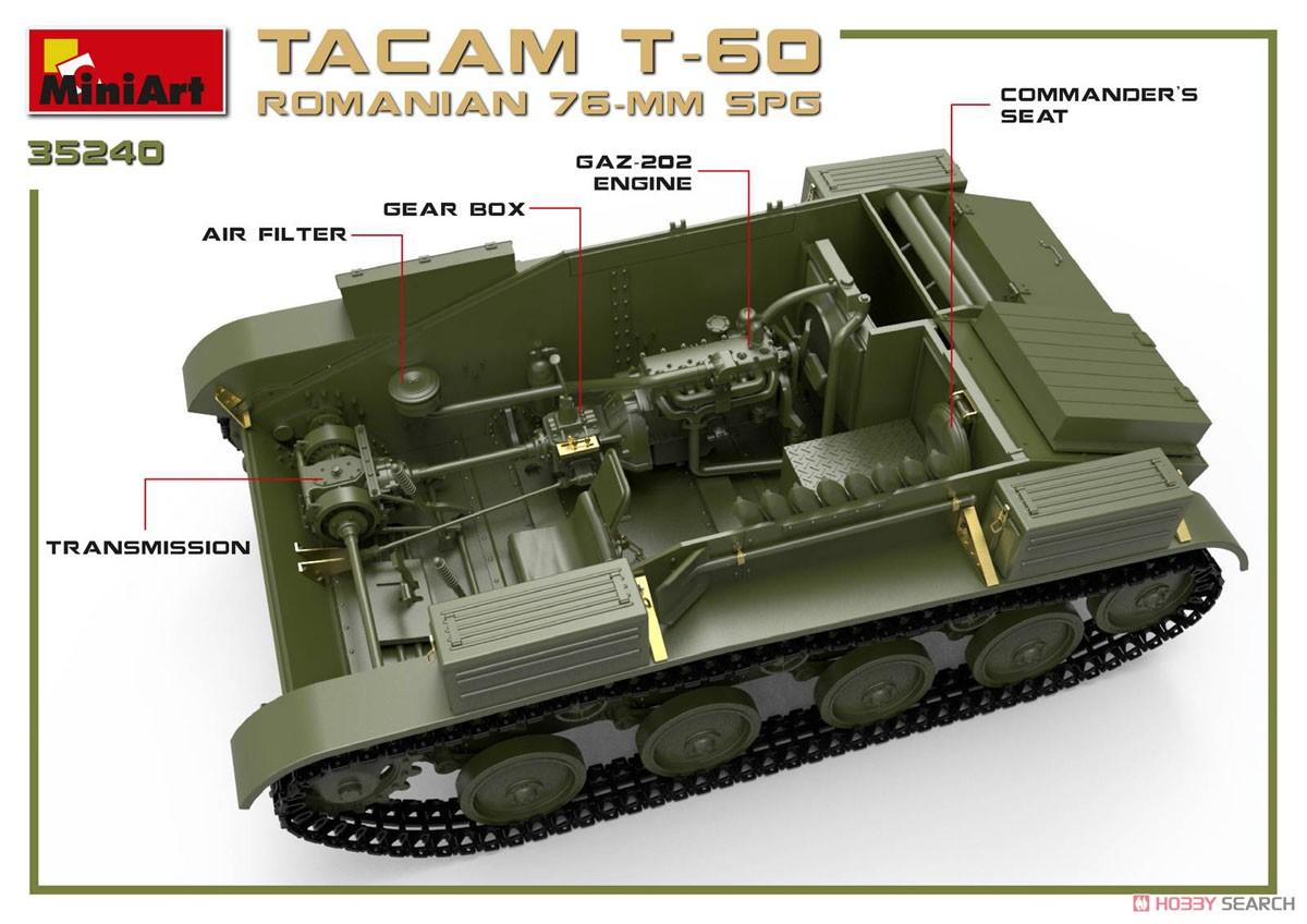 1/35『ルーマニア 76ミリ自走砲 TACAM T-60 フルインテリア』プラモデル-006