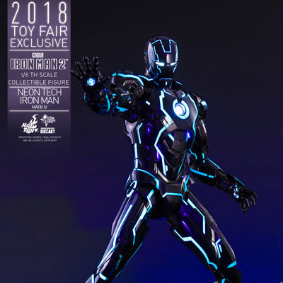 ムービー・マスターピース DIECAST『アイアンマン・マーク4 ネオンテック版』アイアンマン2 1/6 可動フィギュア