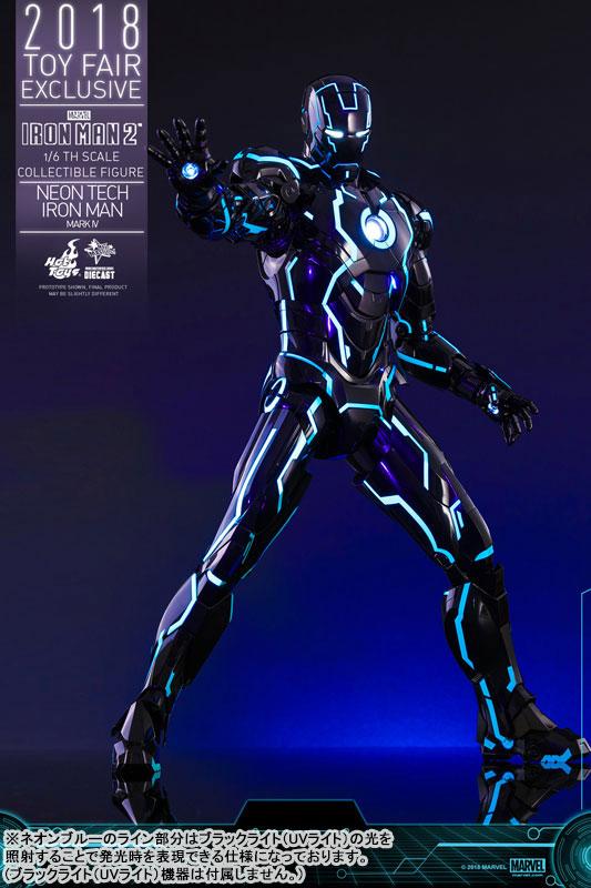 ムービー・マスターピース DIECAST『アイアンマン・マーク4 ネオンテック版』アイアンマン2 1/6 可動フィギュア-001