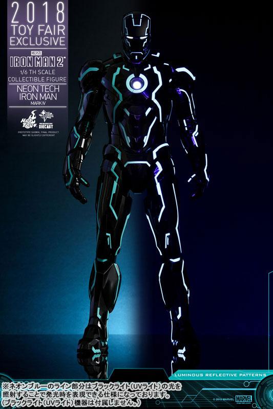 ムービー・マスターピース DIECAST『アイアンマン・マーク4 ネオンテック版』アイアンマン2 1/6 可動フィギュア-003