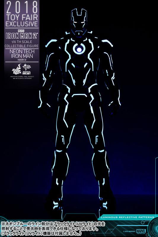 ムービー・マスターピース DIECAST『アイアンマン・マーク4 ネオンテック版』アイアンマン2 1/6 可動フィギュア-004