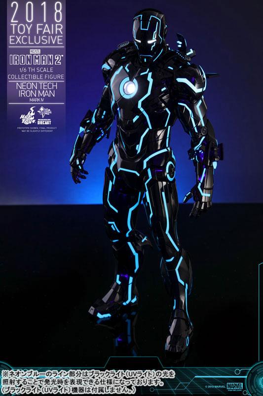 ムービー・マスターピース DIECAST『アイアンマン・マーク4 ネオンテック版』アイアンマン2 1/6 可動フィギュア-005