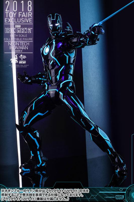 ムービー・マスターピース DIECAST『アイアンマン・マーク4 ネオンテック版』アイアンマン2 1/6 可動フィギュア-007