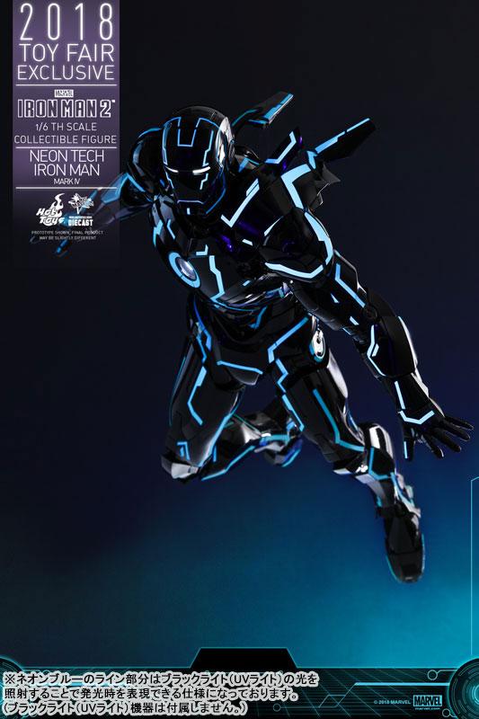 ムービー・マスターピース DIECAST『アイアンマン・マーク4 ネオンテック版』アイアンマン2 1/6 可動フィギュア-008