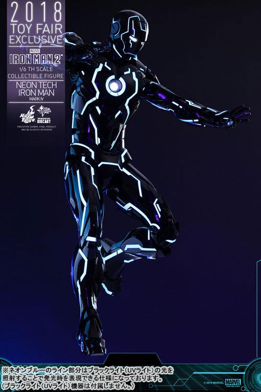 ムービー・マスターピース DIECAST『アイアンマン・マーク4 ネオンテック版』アイアンマン2 1/6 可動フィギュア-009