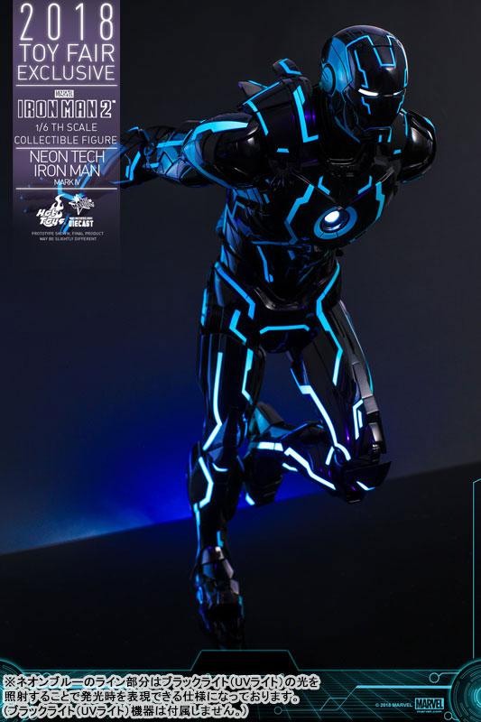 ムービー・マスターピース DIECAST『アイアンマン・マーク4 ネオンテック版』アイアンマン2 1/6 可動フィギュア-010