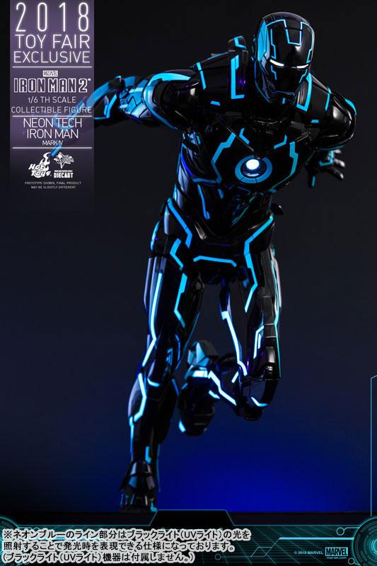 ムービー・マスターピース DIECAST『アイアンマン・マーク4 ネオンテック版』アイアンマン2 1/6 可動フィギュア-011