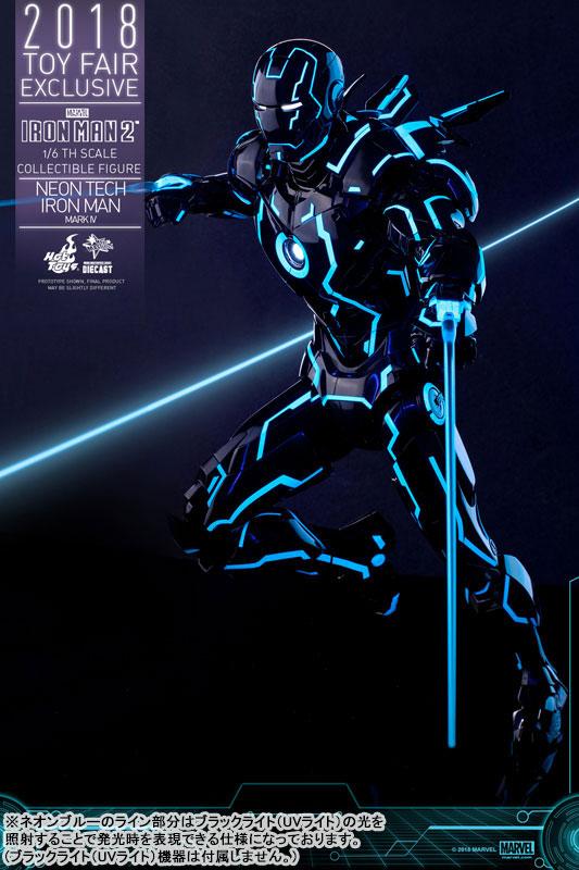 ムービー・マスターピース DIECAST『アイアンマン・マーク4 ネオンテック版』アイアンマン2 1/6 可動フィギュア-012
