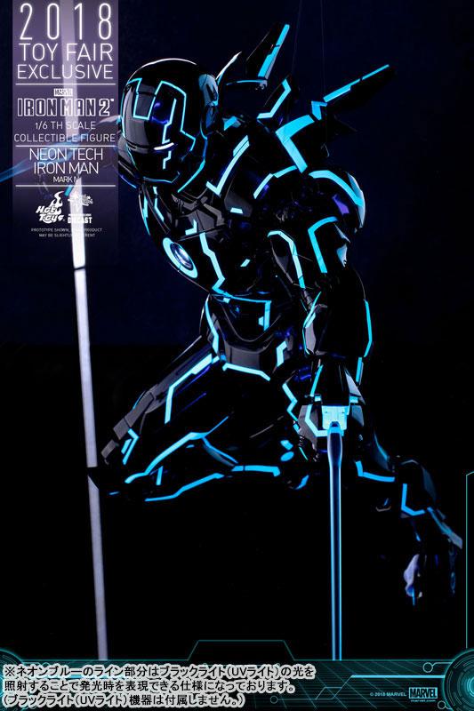 ムービー・マスターピース DIECAST『アイアンマン・マーク4 ネオンテック版』アイアンマン2 1/6 可動フィギュア-013