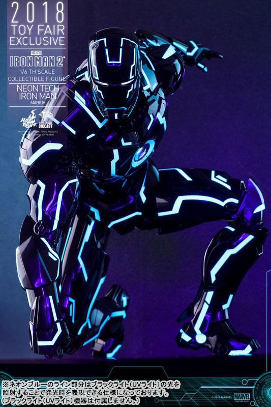 ムービー・マスターピース DIECAST『アイアンマン・マーク4 ネオンテック版』アイアンマン2 1/6 可動フィギュア-014
