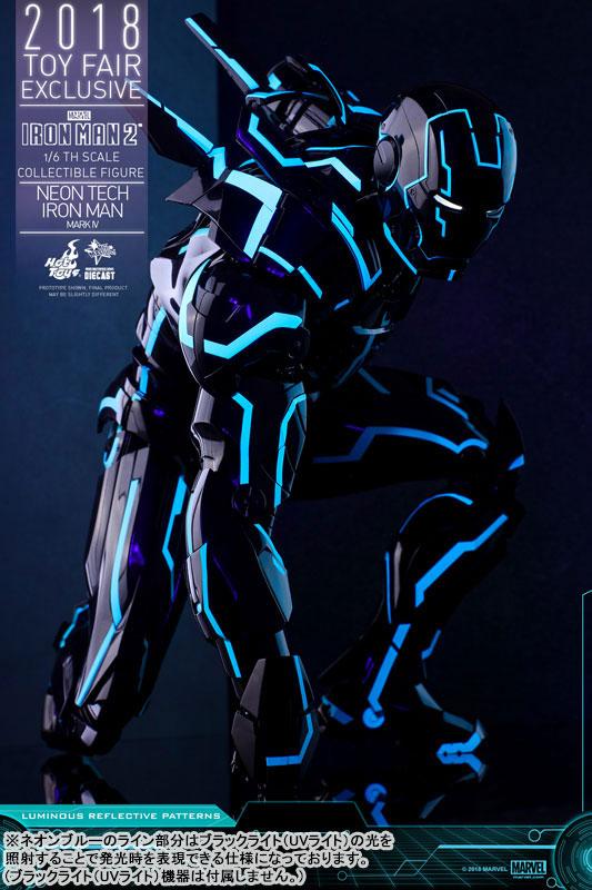 ムービー・マスターピース DIECAST『アイアンマン・マーク4 ネオンテック版』アイアンマン2 1/6 可動フィギュア-015