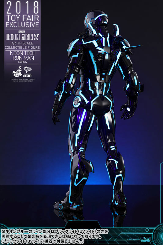 ムービー・マスターピース DIECAST『アイアンマン・マーク4 ネオンテック版』アイアンマン2 1/6 可動フィギュア-016