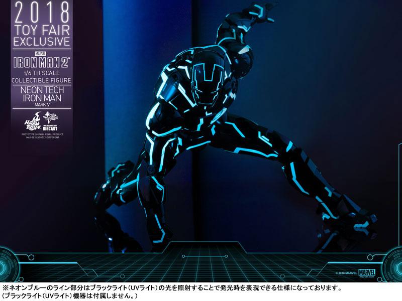 ムービー・マスターピース DIECAST『アイアンマン・マーク4 ネオンテック版』アイアンマン2 1/6 可動フィギュア-017