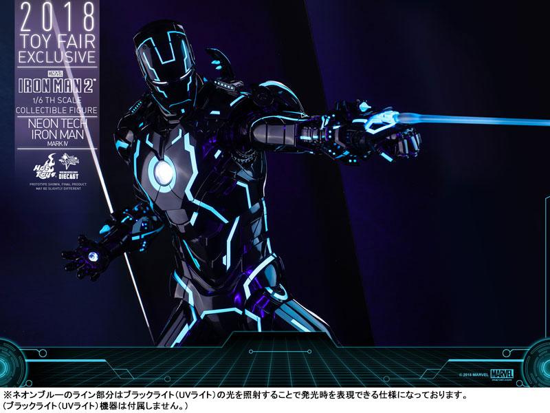 ムービー・マスターピース DIECAST『アイアンマン・マーク4 ネオンテック版』アイアンマン2 1/6 可動フィギュア-018