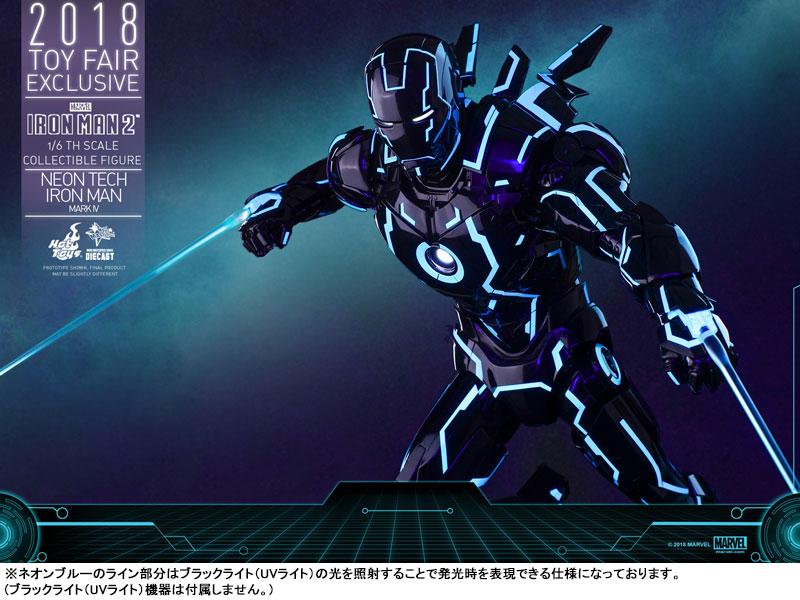 ムービー・マスターピース DIECAST『アイアンマン・マーク4 ネオンテック版』アイアンマン2 1/6 可動フィギュア-019