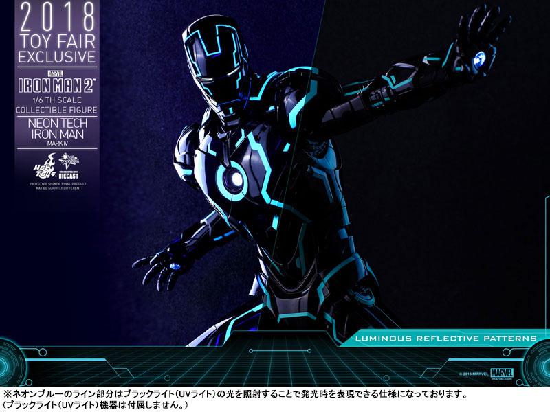 ムービー・マスターピース DIECAST『アイアンマン・マーク4 ネオンテック版』アイアンマン2 1/6 可動フィギュア-020