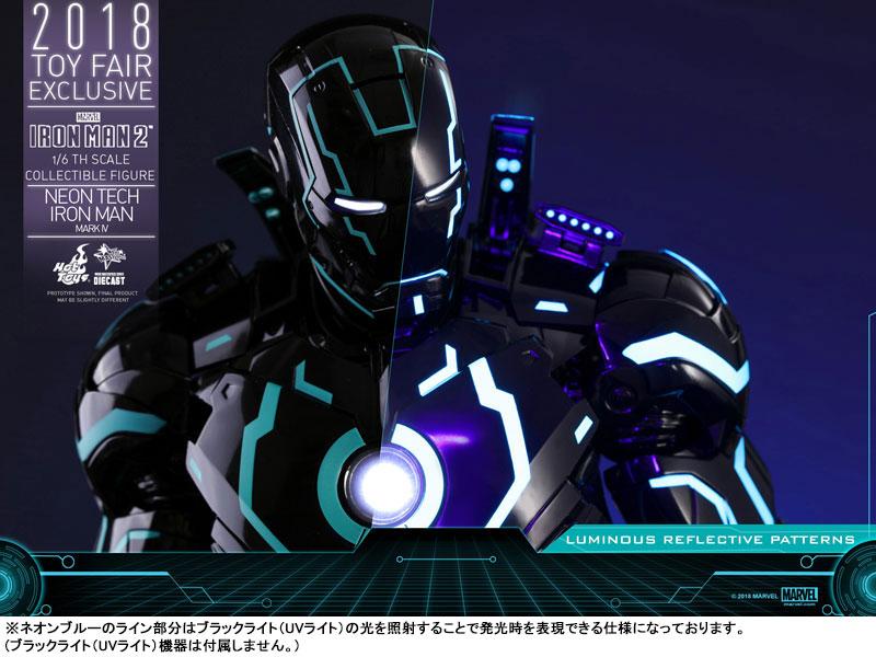 ムービー・マスターピース DIECAST『アイアンマン・マーク4 ネオンテック版』アイアンマン2 1/6 可動フィギュア-021