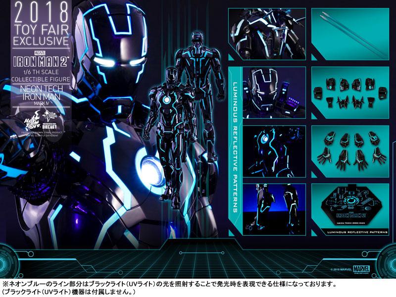ムービー・マスターピース DIECAST『アイアンマン・マーク4 ネオンテック版』アイアンマン2 1/6 可動フィギュア-022