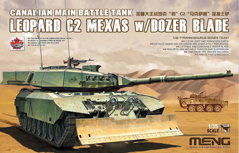 1/35『カナダ主力戦車 レオパルトC2 メクサス ドーザーブレード』プラモデル-005