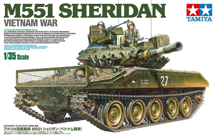 1/35『アメリカ空挺戦車 M551 シェリダン(ベトナム戦争)』プラモデル-001