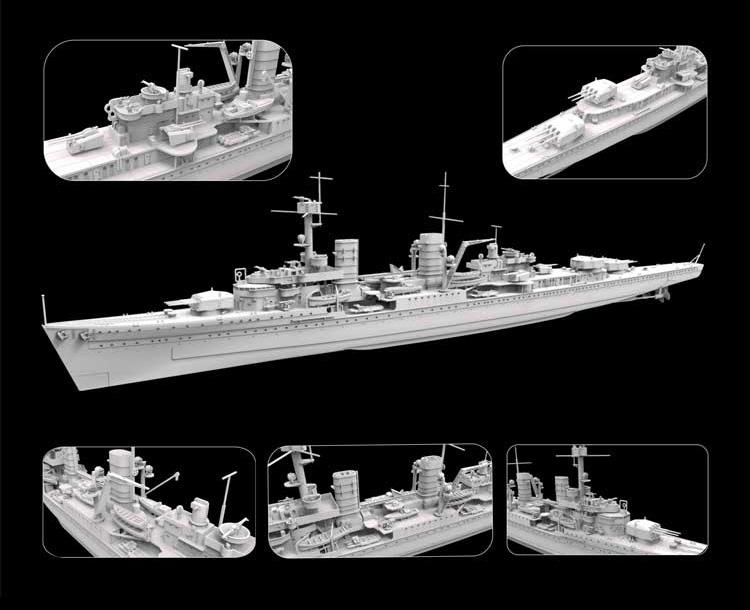 1/700『ドイツ海軍 軽巡洋艦 ケーニヒスベルク 1940年 豪華版』プラモデル-002