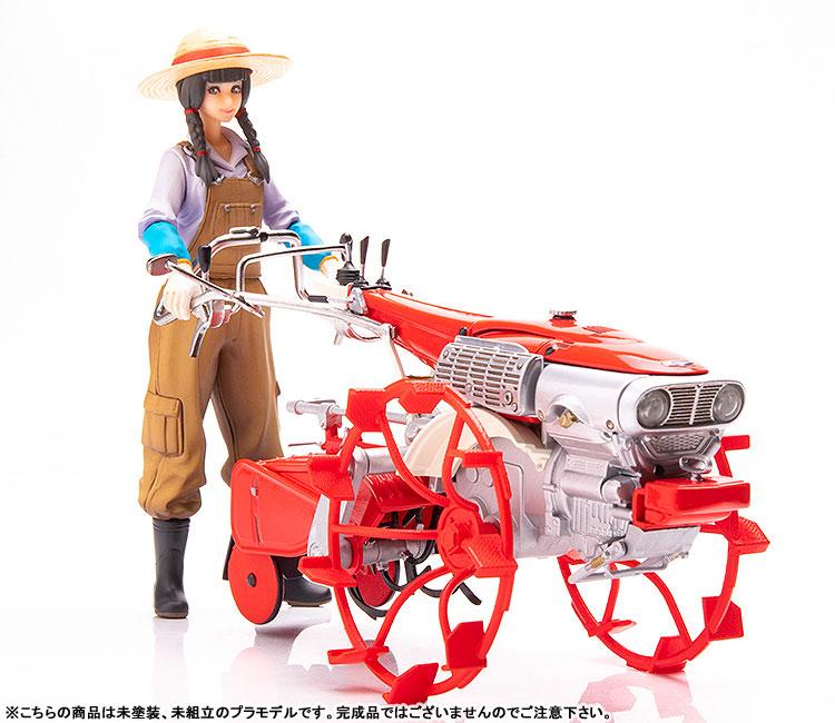 PLAMAX MF-28 minimum factory『いなほ with ホンダ耕耘機F90 水田車輪Ver.』1/20 プラモデル-001