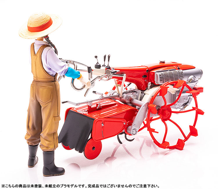 PLAMAX MF-28 minimum factory『いなほ with ホンダ耕耘機F90 水田車輪Ver.』1/20 プラモデル-002