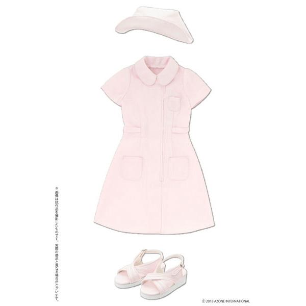 48cm/50cm用 AZO2『ナースセット ピンク』ドール服