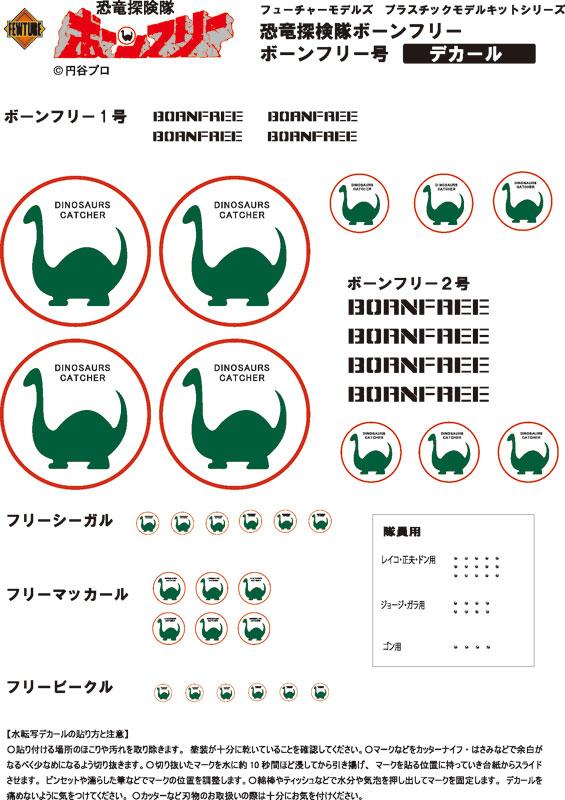 EXプラモ『ボーンフリー号セット』恐竜探険隊ボーンフリー プラモデル-022