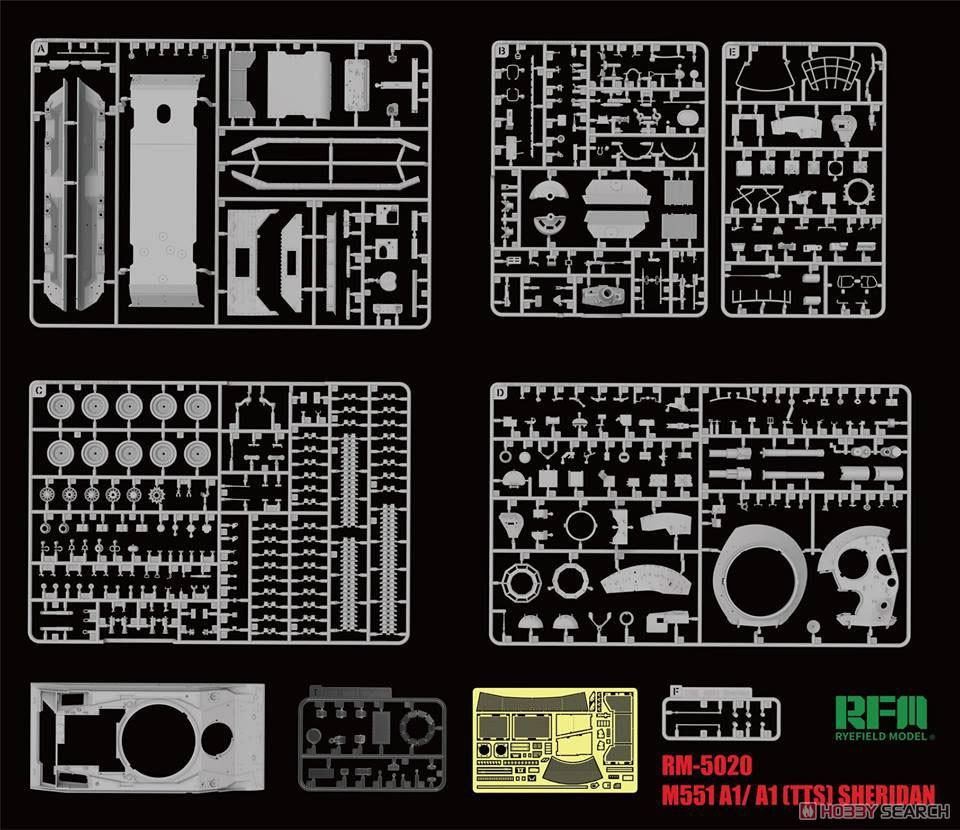 1/35『M551A1/TTS シェリダン』プラモデル-002