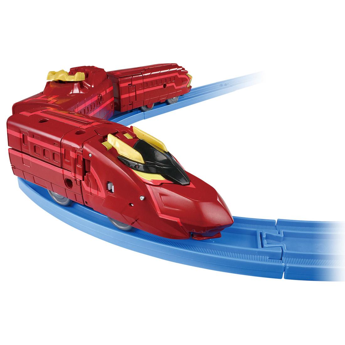 新幹線変形ロボ シンカリオン『DXS13 ブラックシンカリオン紅』可変可動プラレール-003