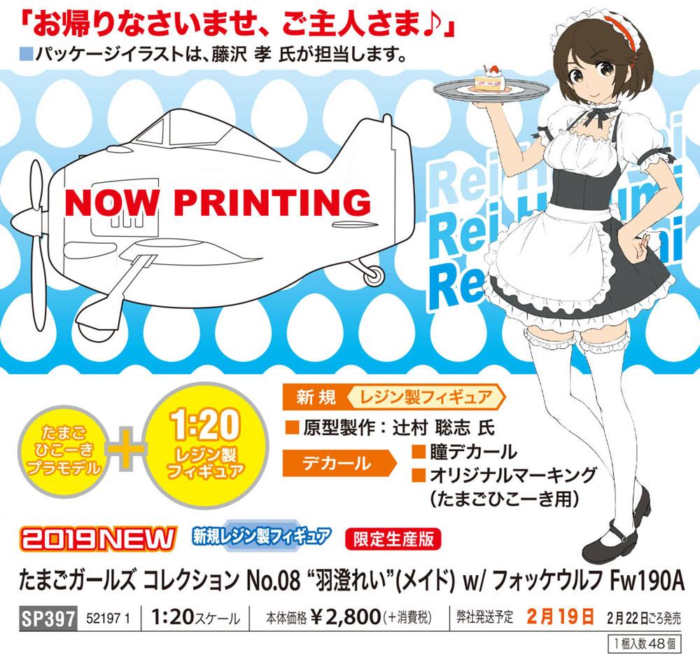 たまごガールズコレクション No.08『羽澄れい(メイド)w/フォッケウルフFw190A』1/20 プラモデル-002