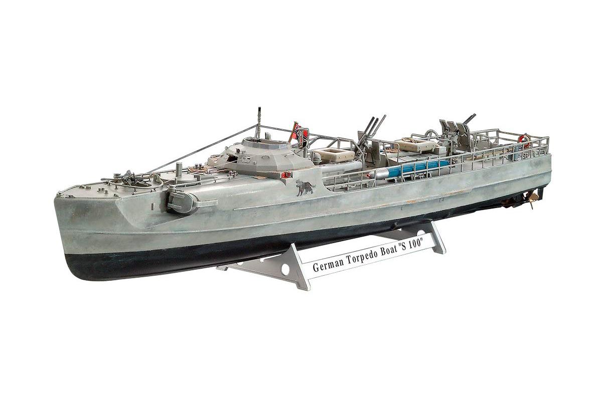 1/72『ドイツ魚雷艇 S100』プラモデル-001