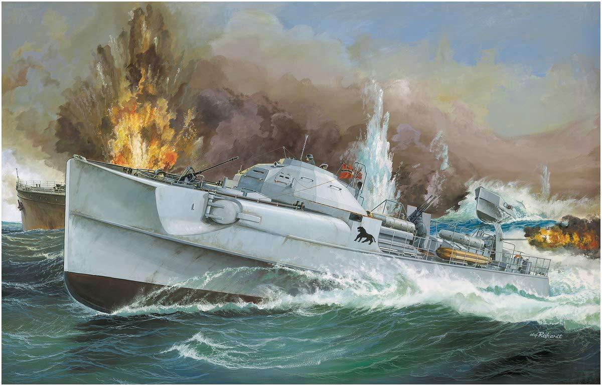 1/72『ドイツ魚雷艇 S100』プラモデル-006