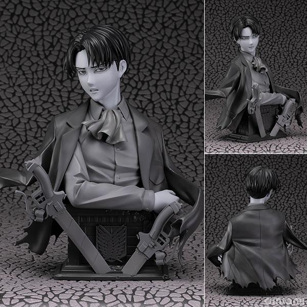 進撃の巨人『リヴァイ 胸像フィギュア  原型グレーver』1/3 完成品フィギュア