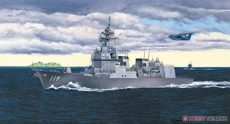 1/700『ウォーターライン 海上自衛隊護衛艦 DD-119 あさひ SP』プラモデル-003