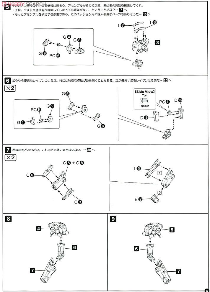 【再販】アーマード・コア V.I.シリーズ『クレスト CR-C89E オラクルVer.』1/72 プラモデル-028