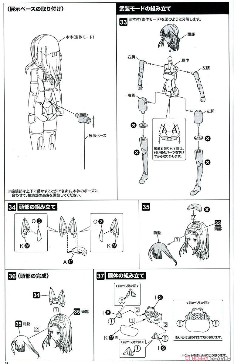 【再販】メガミデバイス × アリス・ギア・アイギス『吾妻楓』プラモデル-031