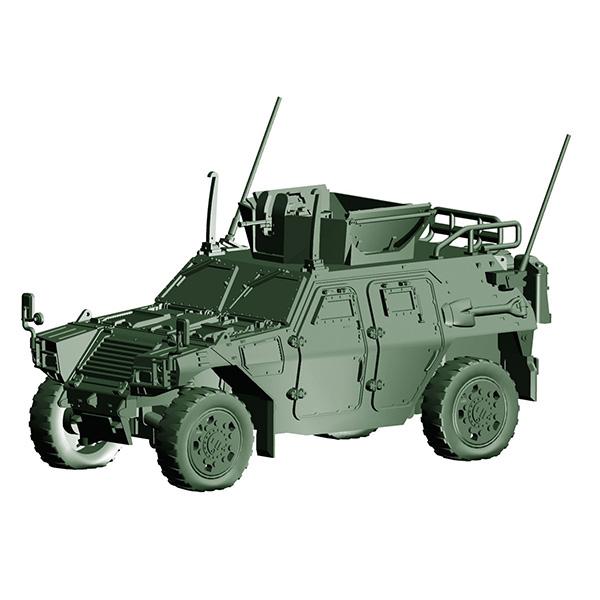 1/72 ミリタリーシリーズ No.17『陸上自衛隊 軽装甲機動車(国教隊)』プラモデル