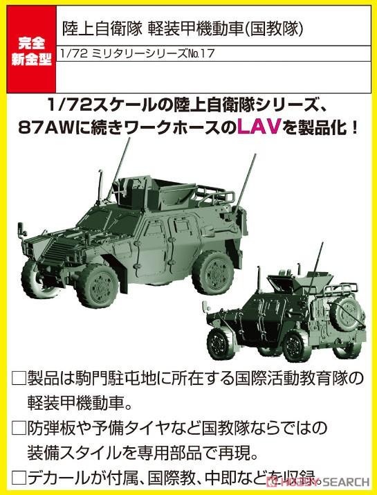 1/72 ミリタリーシリーズ No.17『陸上自衛隊 軽装甲機動車(国教隊)』プラモデル-001