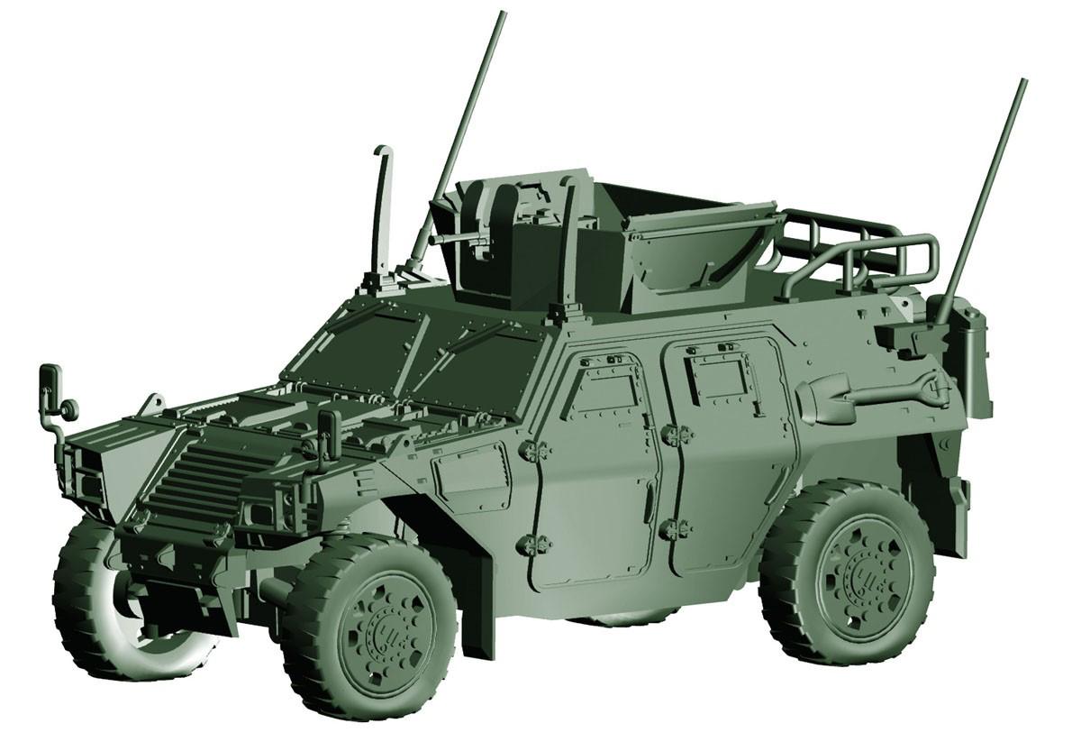 1/72 ミリタリーシリーズ No.17『陸上自衛隊 軽装甲機動車(国教隊)』プラモデル-002