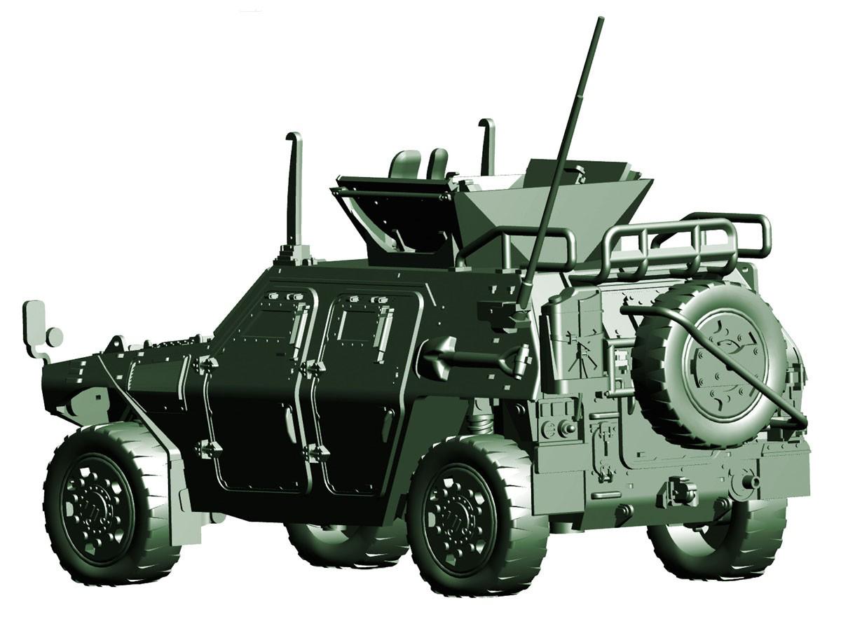 1/72 ミリタリーシリーズ No.17『陸上自衛隊 軽装甲機動車(国教隊)』プラモデル-003